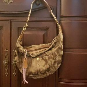 Bronze coach hobo bag
